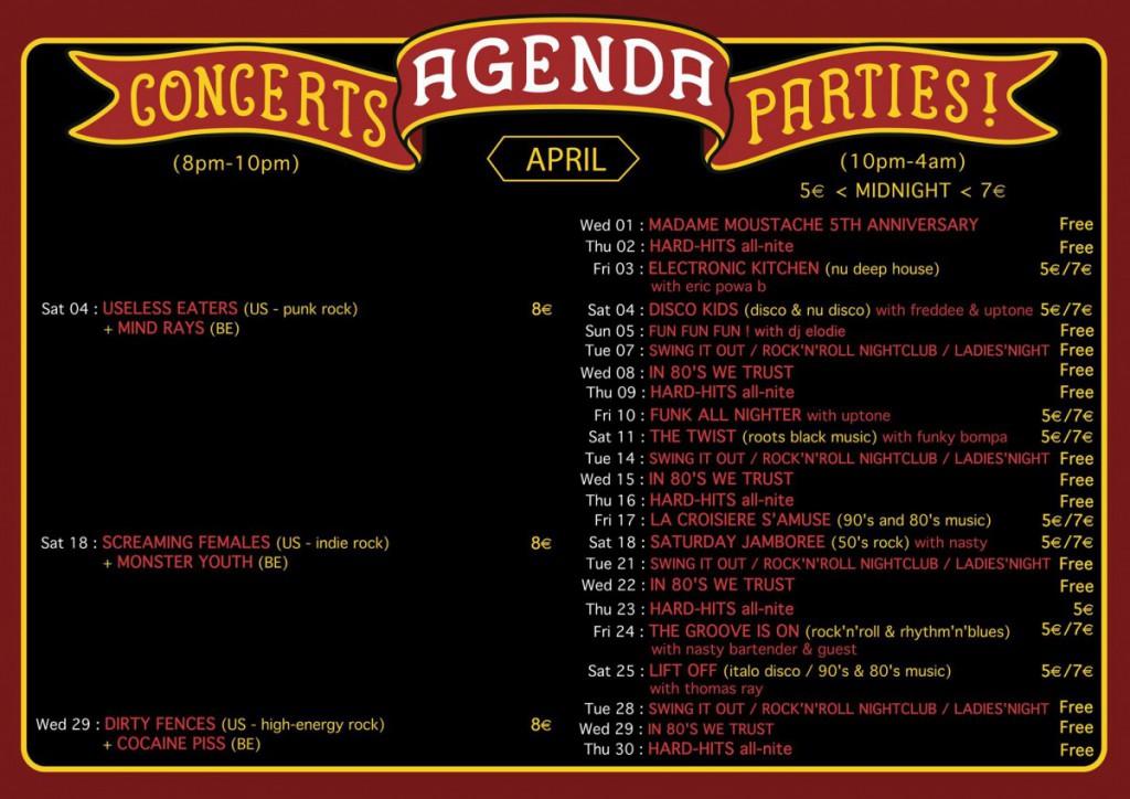 agenda april