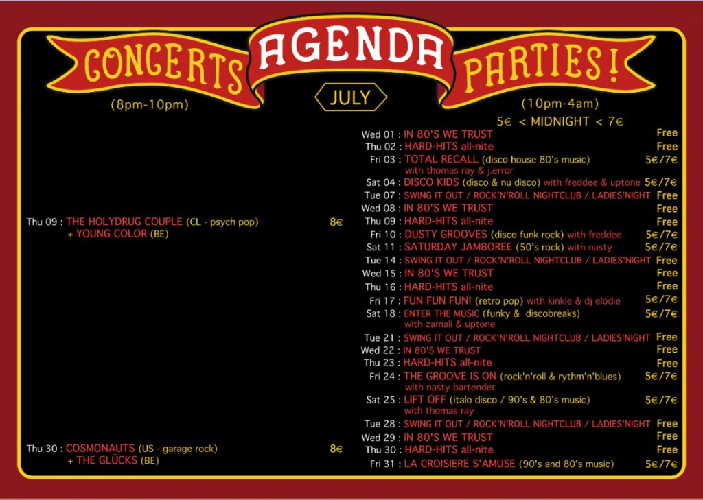 agenda july