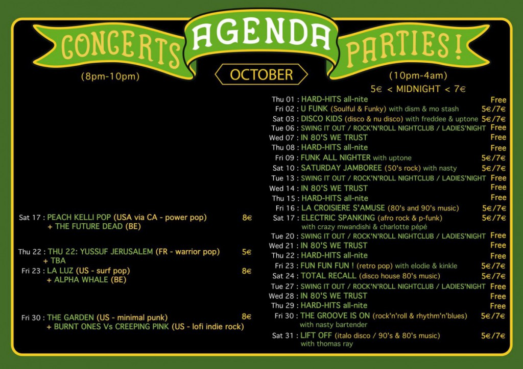 Agenda October