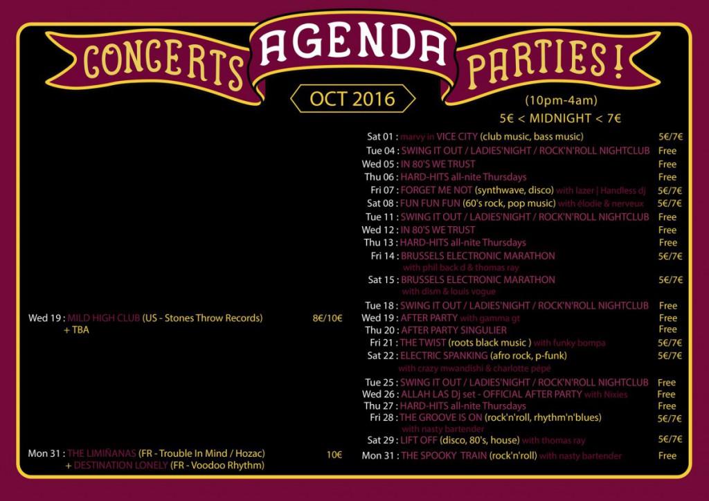 Agenda October 2016