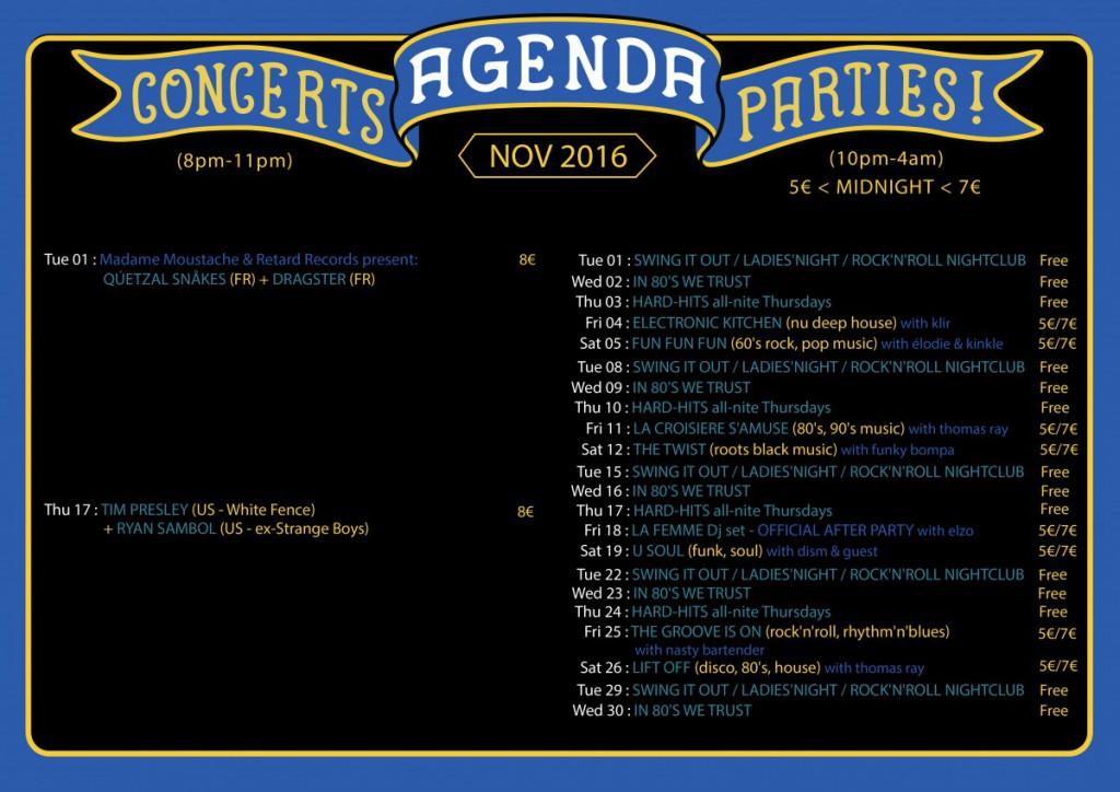 agenda november 2016